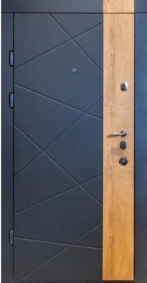 Входные двери MAGDA 612 термо графит/спил медовый