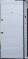 Входные двери MAGDA 141 венге горизонт темный/белый супермат (коробка белая)