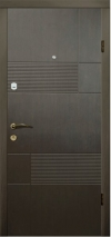 Входные двери MAGDA 121 венге горизонт серый