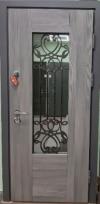 Входные двери MAGDA 621 дуб кантри/термо белое дерево